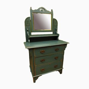 Antique Blue Painted Dressing Table