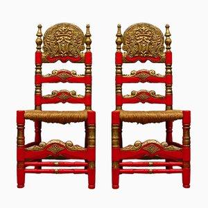 Chaises d'Appoint Vintage Peintes, 1960s, Set de 2