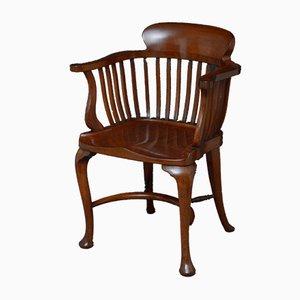 Victorian Mahogany Desk Armchair