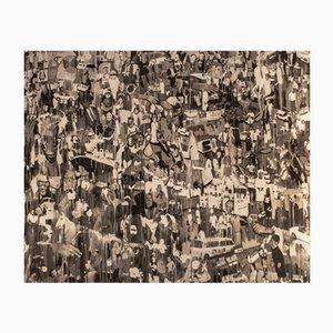 Berühmte Personen & Zeitgenössische Szenen Tempera Gemälde von Daniele Galliano, 2008