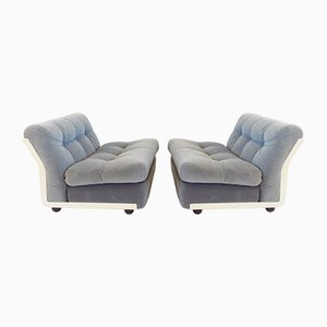 Amanta Lounge Chairs by Mario Bellini for B&B Italia / C&B Italia, 1970s, Set of 2