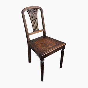 Art Nouveau Bistro Chairs, 1920s, Set of 4