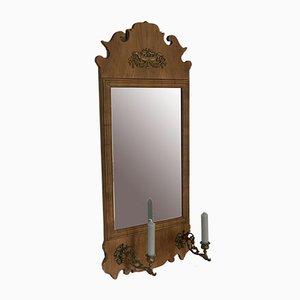 Specchio in stile barocco con portacandela, inizio XX secolo