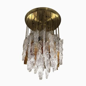 Bicolor Glass Cascade Pendant Lamp from Mazzega, 1970s