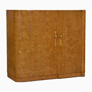 Art Deco Burl Maple Compactum Wardrobe, 1930s