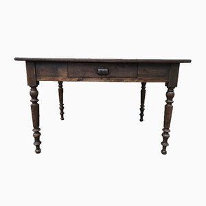 Antique Farm Table with Drawer