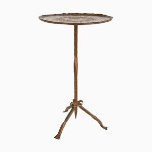 Mid-Century Spanish Gilt Wrought Iron Martini Table