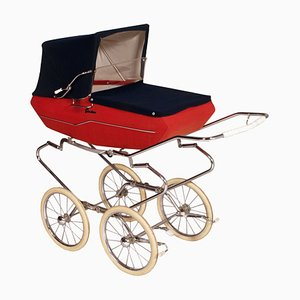 Mid-Century Italian Baby Carriage Pram Storage from Giordani, 1950s