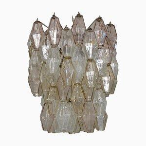 Italian Poliedri Ceiling Lamp from Venini, 1960s