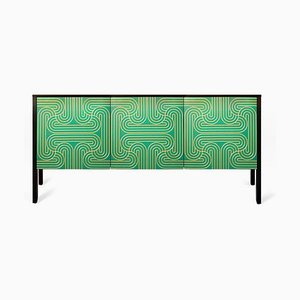 3 Door Loop Sideboard Emerald by Coucoumanou for Coucoumanou / Nell Beale
