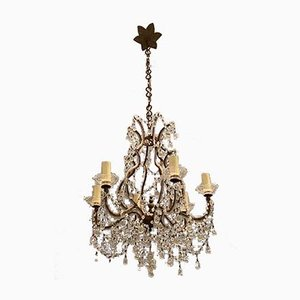 Murano Glass Beaded Chandelier, 1950s