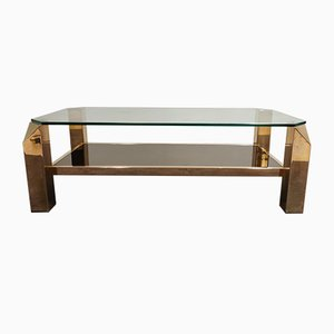 Vintage Golden Coffee Table from Belgo Chrom / Dewulf Selection, 1970s