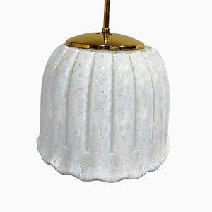 Lámpara colgante vintage de Glashütte Limburg, años 70