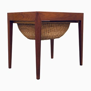 Mid-Century Danish Sewing Table by Severin Hansen for Haslev Møbelsnedkeri