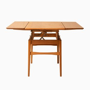 Mid-Century Swedish Square Teak Dining Table, 1950s