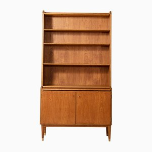 Vintage Teak Shelf with Pull-Out Desk from Bodafors, 1950s