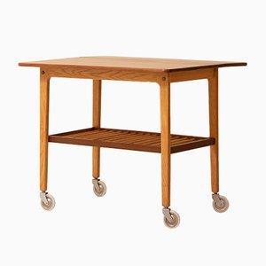 Vintage Scandinavian Teak and Oak Coffee Table, 1960s