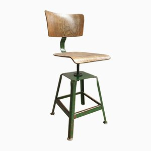 Chaise de Bureau Industrielle Pivotante, 1960s