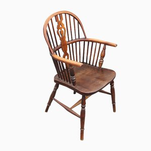 Vintage Oak Carver Country Chair, 1920s