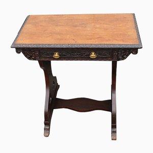 Table d'Extrémité ou d'Appoint Antique Lyre en Chêne, 1900s