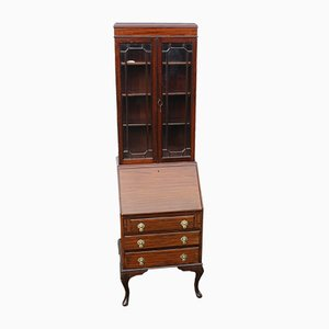 Small Mahogany Desk Bookcase, 1920s