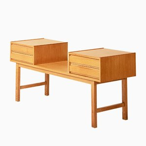 Vintage Chest of Drawer and Mirror Set, 1960s