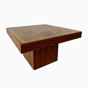 Tavolino da caffè brutalista vintage di Bernhard Rohne