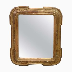 Antique Gilded Wood Wall Mirror, 1880s