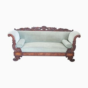 Antikes Walnuss Sofa, 1820er