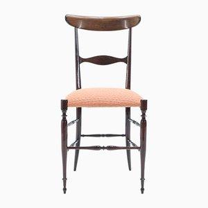 Walnut Chiavari Campanino Chairs by Giuseppe Gaetano Descalzi for Fratelli Levaggi, 1950s, Set of 2