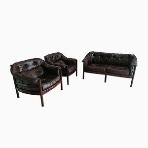 Mid-Century Sessel und Sofa Set von Arne Norell für Coja