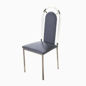 Plexiglass Dining Chairs from Maison Jansen, 1970s, Set of 4