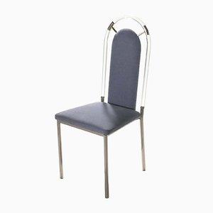 Plexiglass Dining Chairs from Maison Jansen, 1970s, Set of 4