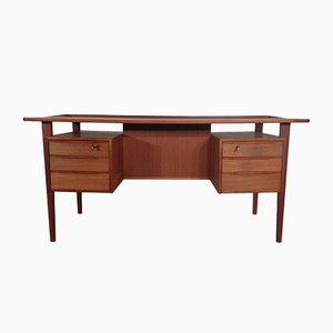 Danish Teak Desk by Peter Løvig Nielsen for Dansk Design, 1970s