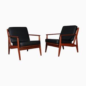 Teak Lounge Chair by Arne Vodder, 1970s