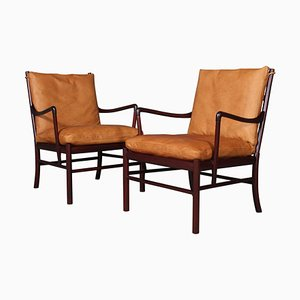 Mid-Century Colonial Chairs by Ole Wanscher, Set of 2
