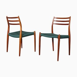 Side Chairs by Niels Otto Møller, 1960s, Set of 2