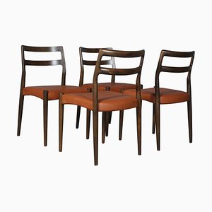 Mid-Century Model Anna Dining Chairs by Johannes Andersen for Uldum Møbelfabrik, Set of 4