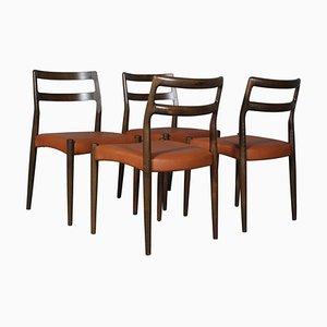 Mid-Century Model Anna Dining Chairs by Johannes Andersen for Uldum Møbelfabrik, Set of 4
