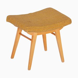 Mid-Century Orange Beech Stool, 1960s