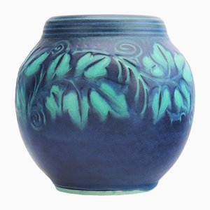 Decorated Ovoid Vase by William S Mycock for Pilkington's Royal Lancastrian, 1933