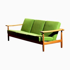 Danish Oak Sofa in the Style of Getama, 1960s