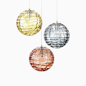Murano Glass Pendant Lamps from Doria Leuchten, 1960s, Set of 3