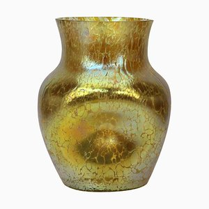 Jugendstil Candia Papillon Decor Vase from Loetz Glass, 1898