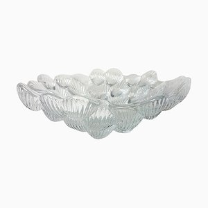 Royal Copenhagen Crystal Musling Shell Glass Bowl by Per Lutken, Denmark, 1980s
