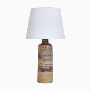 Lámpara de pie escandinava moderna de cerámica en colores tierra de Tue Poulsen, años 60