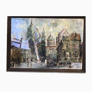 Dibujo Paris Montmartre de Moral, años 40