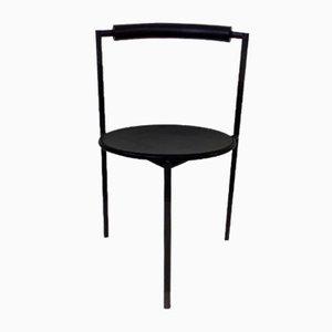 Sedie da pranzo postmoderna nere di Maurizio Peregalli, Italia, anni '80, set di 2