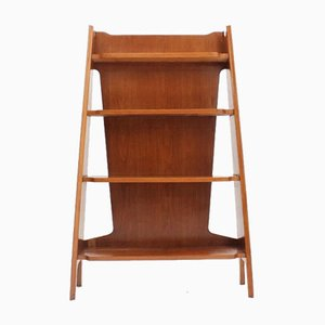 Small Vintage Oak Bookshelf, 1950s