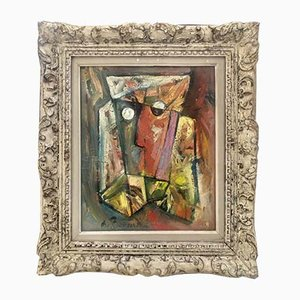 Pintura abstracta de A. Beaudin, años 50